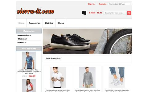 Screenshot of Home Page sierra-it.com - Accessories,Clothing,Shoes,Sunglasses Looking for best valued Sale UK & Generous decent - captured Oct. 19, 2018