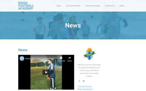 Screenshot of Press Page bondifootball.com - News - BONDI FOOTBALL ACADEMY - captured Dec. 13, 2018