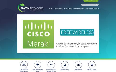 Screenshot of Home Page pivotalnetworks.co.uk - Pivotal Networks - Network / Telecommunications Specialists - captured Sept. 28, 2018
