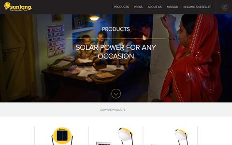Screenshot of Products Page greenlightplanet.com - Shop - Sun King - captured Nov. 14, 2016