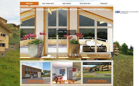 Screenshot of Home Page realityrendering.nl - Welkom bij Reality Rendering 3D visualisatie | an - captured Sept. 30, 2014