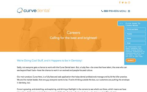 Screenshot of Jobs Page curvedental.com - Careers - Curve Dental - captured May 7, 2017