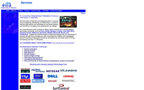 Screenshot of Services Page entsols.com - Services by Enterprising I.T. Solutions - captured June 23, 2016