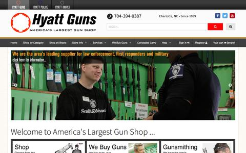 Screenshot of Home Page hyattgunstore.com - Hyatt Guns - Since 1959 - captured Feb. 7, 2018