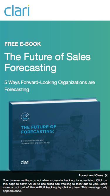Clari eBook: The Future of Sales Forecasting