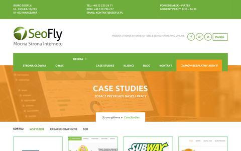 Screenshot of Case Studies Page seofly.pl - Case Studies - Agencja SEO, SEM & Digital Marketing - SeoFly Warszawa - captured Dec. 11, 2017