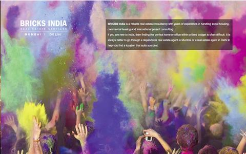 Screenshot of Home Page bricks-india.com - Trusted Real Estate Agent in Mumbai and Delhi - Bricks India - captured Dec. 28, 2015