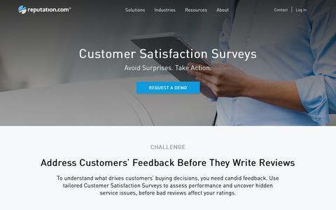 Customer Satisfaction Surveys, Online Survey