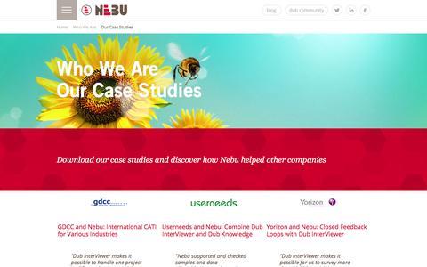 Screenshot of Case Studies Page nebu.com - Nebu Case Studies - captured Feb. 4, 2016