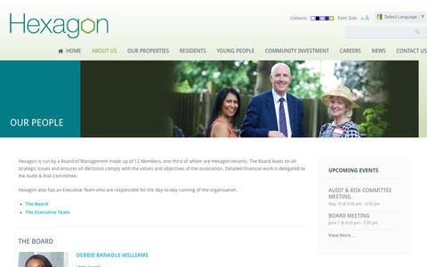 Screenshot of Team Page hexagon.org.uk - Our People | Hexagon Housing Association - captured April 12, 2016