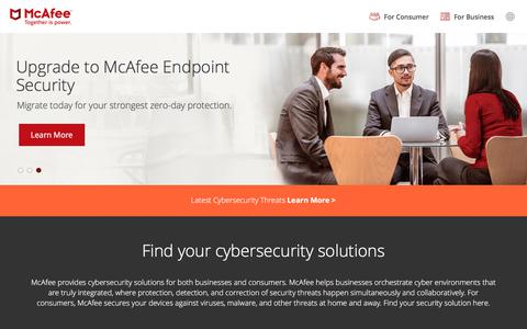 Security Solutions: Endpoint, Cloud, Network, Antivirus, Malware | McAfee