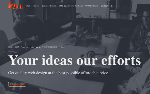 Screenshot of Home Page foduu.com - Cheap Web Design Company India, Website @ ₹ 2999, $99 | Foduu - captured Oct. 4, 2017