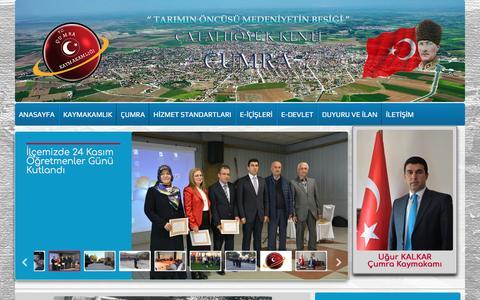 Screenshot of Home Page cumra.gov.tr - T.C ÇUMRA KAYMAKAMLIĞI - captured April 5, 2017