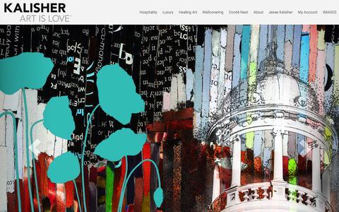 Screenshot of Home Page kalisher.com - Kalisher - Hospitality Art - captured Nov. 6, 2015