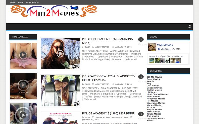 Web Design Example | A page on mm2movies com | Crayon