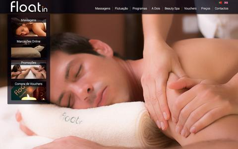 Screenshot of Home Page float-in.pt - Float in - Spa Lisboa - captured Feb. 10, 2016