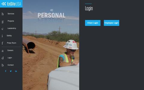 Screenshot of Login Page emseng.com - EnsiteUSA - Login - captured Nov. 2, 2014