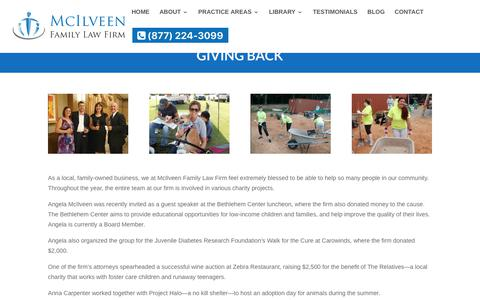 Giving Back | McIlveen Family Law Firm