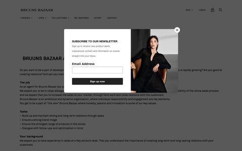 Screenshot of Jobs Page bruunsbazaar.com - JOBS — Bruuns Bazaar - captured Aug. 7, 2018