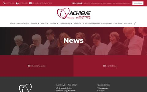 Screenshot of Press Page achieveny.org - ACHIEVE News & Updates | Premiere Services For Individuals With Disabilities - NY | ACHIEVE - captured July 28, 2018