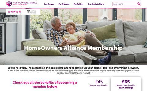 Screenshot of Signup Page hoa.org.uk - HOA Membership Offer - captured Sept. 20, 2018