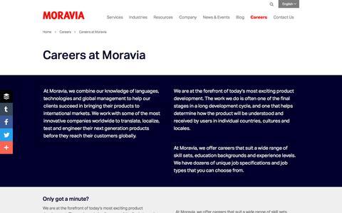 Careers at Moravia - Moravia