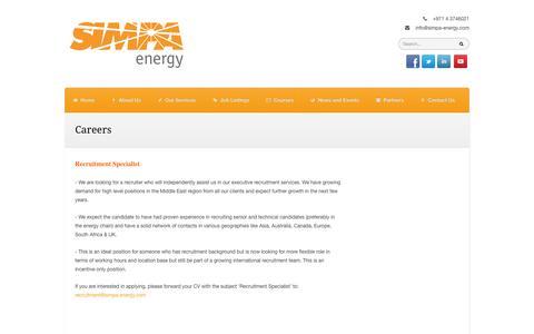 Screenshot of Jobs Page simpa-energy.com - Careers   SIMPA Energy - captured Oct. 3, 2014