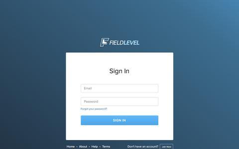 Screenshot of Login Page fieldlevel.com - Sign In to FieldLevel - captured Feb. 10, 2016