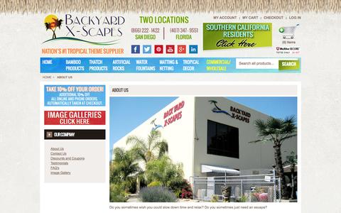 Screenshot of About Page backyardxscapes.com - About Us - captured Oct. 29, 2014