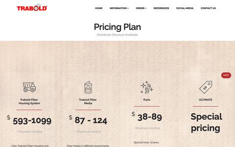Screenshot of Pricing Page trabold.net - Pricing - captured Oct. 18, 2018