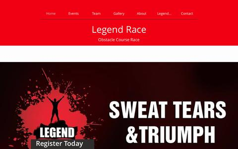 Screenshot of Home Page legendrace.com - Home - captured May 17, 2017
