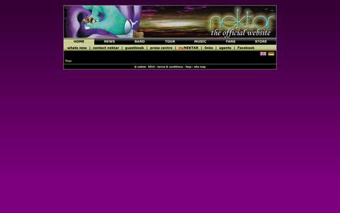 Screenshot of FAQ Page nektarsmusic.com - Welcome to the official home of Nektar - captured May 27, 2016