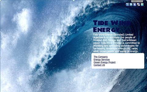 Screenshot of Home Page tidewindtdad.com - Tide Wind Energy - captured Oct. 6, 2014