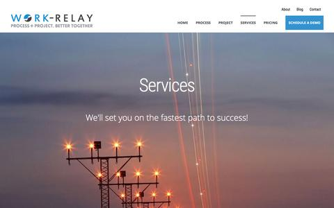 Screenshot of Services Page work-relay.com - Services - captured Dec. 24, 2015