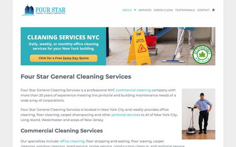 Screenshot of About Page 4starcleaning.com - Best Janitorial Services NYC | Almost 30 Years of Experience - captured Oct. 11, 2018