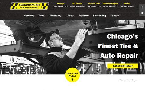 Screenshot of Home Page suburbantire.com - Quality Auto Repair & Maintenance Service | Suburban Tire Auto Repair Centers - captured Aug. 16, 2015