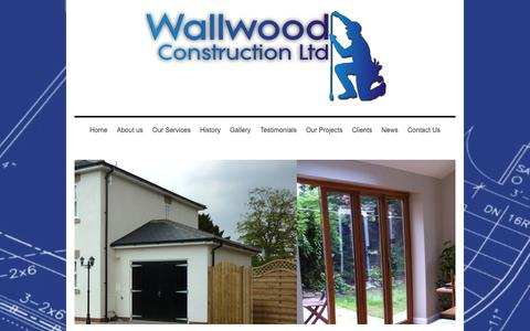 Screenshot of Site Map Page wallwood.co.uk - Welcome To Wallwood Home - captured Oct. 4, 2014