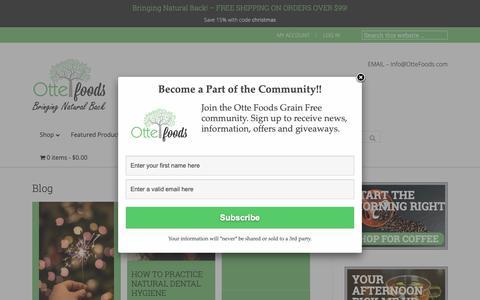 Screenshot of Blog ottefoods.com - Blog - Otte Foods - captured Dec. 6, 2018
