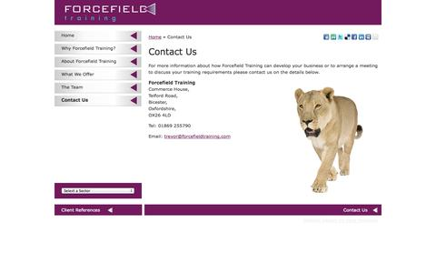 Screenshot of Contact Page forcefieldtraining.com - Forcefield Training  |  Customised Training Courses |  Key Account Management | Sales Training | Contact Us - captured Sept. 30, 2014