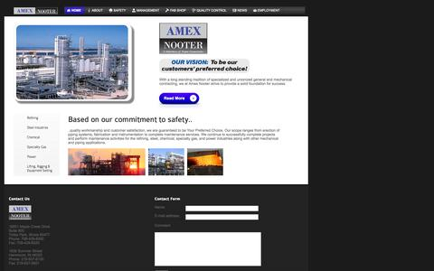 Screenshot of Home Page amexnooter.com - Amex Nooter - captured Sept. 4, 2015