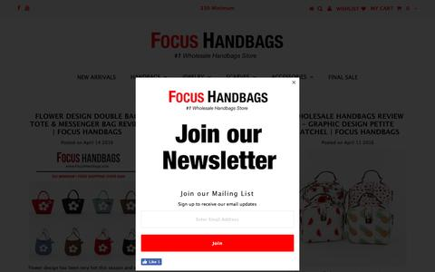 Screenshot of Blog focushandbags.com - Wholesale Handbags Review – Focus Handbags - captured Nov. 25, 2016