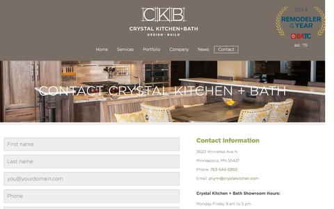 Screenshot of Contact Page crystalkitchen.com - Contact Crystal Kitchen + Bath - Crystal Kitchen + Bath - captured Nov. 14, 2016