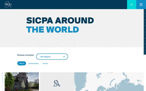 Screenshot of Maps & Directions Page sicpa.com - Map | SICPA - captured July 25, 2018