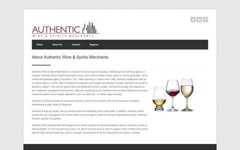 Screenshot of About Page awsm.ca - About   Authentic Wine & Spirits Merchants - captured Oct. 4, 2014
