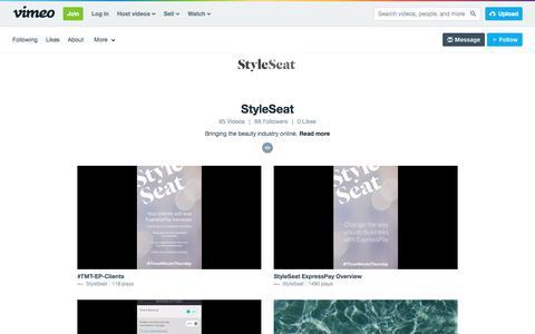 StyleSeat on Vimeo