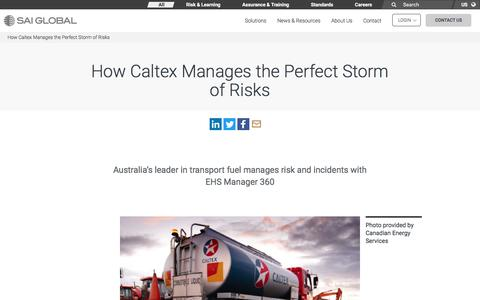 Screenshot of Case Studies Page saiglobal.com - How Caltex Manages the Perfect Storm of Risks - SAI Global - captured Dec. 12, 2019