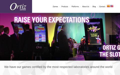 Screenshot of Home Page ortizgaming.com - : : Ortiz Gaming : : - captured Oct. 7, 2014
