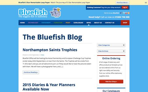 Screenshot of Press Page bluefishoffice.co.uk - News - Bluefish Office Products - bluefishoffice.co.uk - captured Oct. 5, 2014