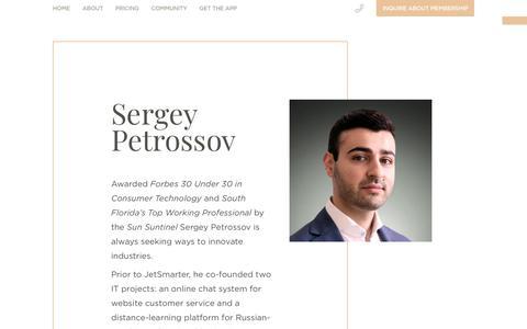 Sergey Petrossov, CEO   JetSmarter