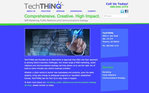 Screenshot of Services Page techthinq.com - B2B Marketing Services | TechTHiNQ | TechTHiNQ - captured Sept. 30, 2014